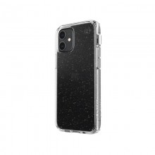 Speck Presidio Perfect-Clear with Glitter - Etui iPhone 12 Mini z powłoką MICROBAN (Gold Glitter/Clear)
