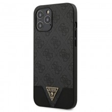 Guess 4G Triangle Collection - Etui iPhone 12 Pro Max (szary)
