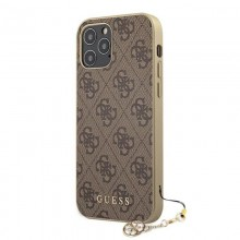 Guess 4G Charms Collection - Etui iPhone 12 Pro Max (brązowy)