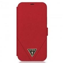 Guess Booktype Saffiano V – Etui iPhone 12 Pro Max (czerwony)