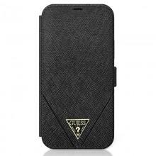 Guess Booktype Saffiano V – Etui iPhone 12 Pro Max (czarny)