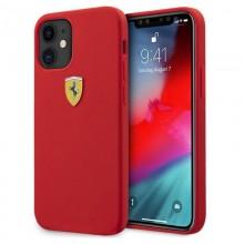 Ferrari On Track Silicone – Etui iPhone 12 mini (czerwony)
