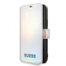 Guess Iridescent Booktype - Etui iPhone 11 Pro Max (Silver)