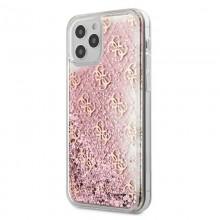 Guess 4G Liquid Glitter - Etui iPhone 12 Pro Max (różowy)