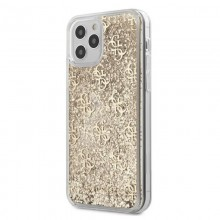 Guess 4G Liquid Glitter - Etui iPhone 12 Pro Max (złoty)