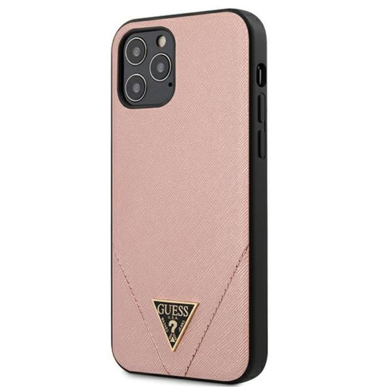 Guess Saffiano V - Etui iPhone 12 Pro Max (różowy)