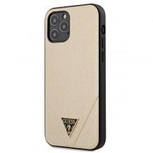 Guess Saffiano V - Etui iPhone 12 Pro Max (złoty)