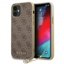 Guess 4G Charms Collection - Etui iPhone 12 mini (brązowy)