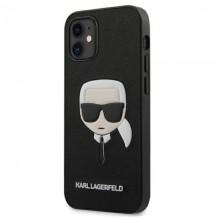 Karl Lagerfeld Saffiano Ikonik Karl`s Head - Etui iPhone 12 mini (czarny)