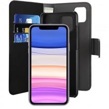 PURO Wallet Detachable - Etui 2w1 iPhone 11 (czarny)