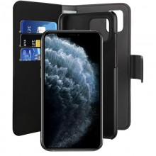 PURO Wallet Detachable - Etui 2w1 iPhone 11 Pro Max (czarny)