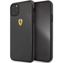 Ferrari On Truck Racing Shield Hardcase - Etui iPhone 11 Pro Max (Carbon Effect/Black)