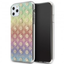 Guess 4G Peony Electroplated Pattern - Etui iPhone 11 Pro Max (tęczowy)