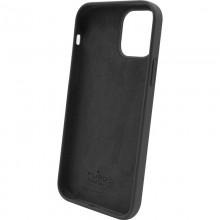 PURO ICON Anti-Microbial Cover - Etui iPhone 12 Pro Max z ochroną antybakteryjną (czarny)