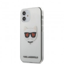 Karl Lagerfeld Choupette Head Heart - Etui iPhone 12 Mini (przezroczysty)