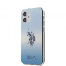 US Polo Assn Dh & Logo Gradient - Etui iPhone 12 Mini (niebieski)