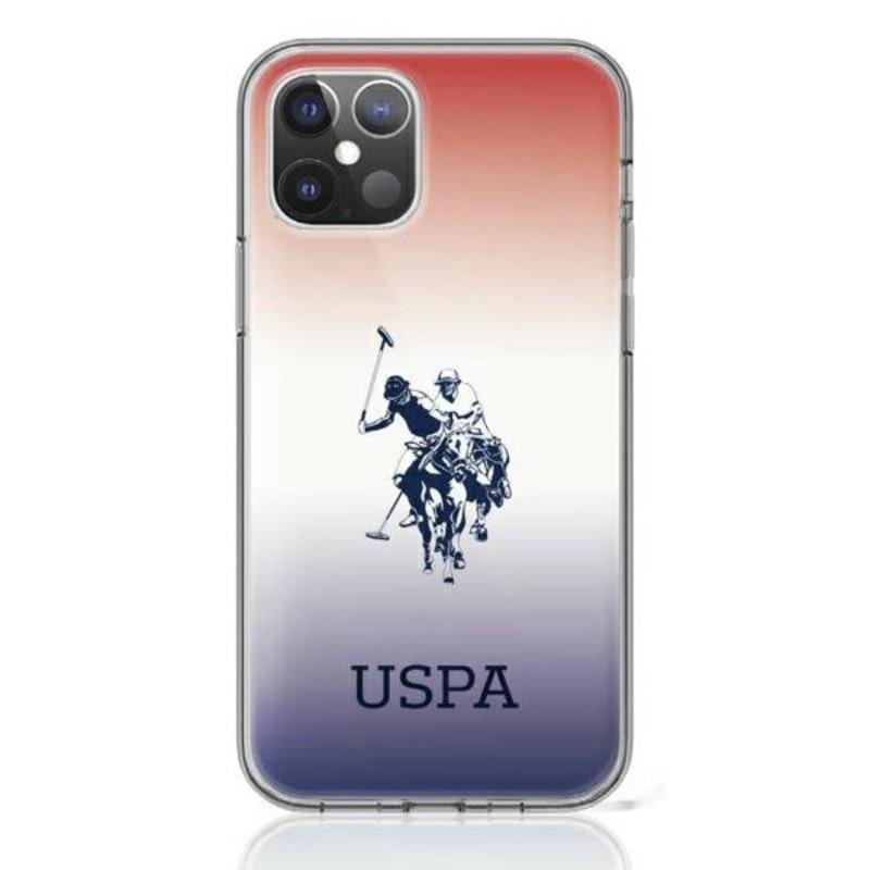 US Polo Assn Dh & Logo Gradient - Etui iPhone 12 Mini (gradient)