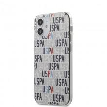 US Polo Assn Logo Mania - Etui iPhone 12 Mini (biały)