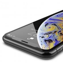 X-Doria Defense Glass - Hartowane szkło ochronne 9H na ekran iPhone 11 Pro Max / Xs Max (czarna ramka)