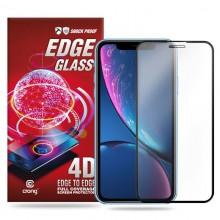 Crong Edge Glass 4D Full Glue - Szkło hartowane na cały ekran iPhone 11 / iPhone XR