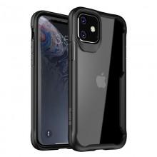 Crong Hybrid Clear Cover - Etui iPhone 11 (czarny)