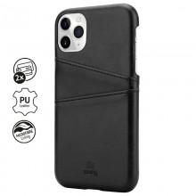 Crong Neat Cover - Etui iPhone 11 Pro Max z kieszeniami (czarny)