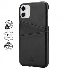 Crong Neat Cover - Etui iPhone 11 z kieszeniami (czarny)