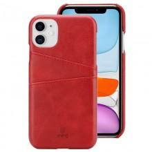 Crong Neat Cover - Etui iPhone 11 Pro z kieszeniami (czerwony)