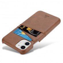 Crong Neat Cover - Etui iPhone 11 Pro z kieszeniami (brązowy)