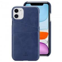 Crong Neat Cover - Etui iPhone 11 Pro z kieszeniami (niebieski)
