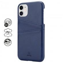 Crong Neat Cover - Etui iPhone 11 z kieszeniami (niebieski)