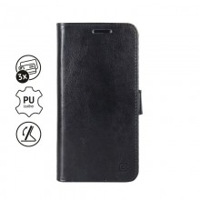 Crong Booklet Wallet - Etui iPhone 11 Pro z kieszeniami + funkcja podstawki (czarny)
