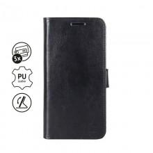 Crong Booklet Wallet - Etui iPhone 11 z kieszeniami + funkcja podstawki (czarny)