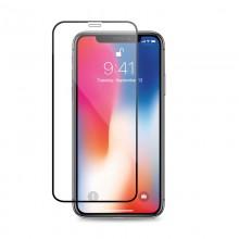Crong Hybrid Clear Cover - Zestaw etui iPhone 11 Pro (czarny) + szkło hybrydowe 9H