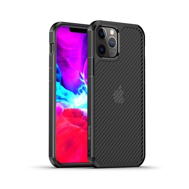 Crong Hybrid Carbon - Etui iPhone 12 Pro Max (czarny)
