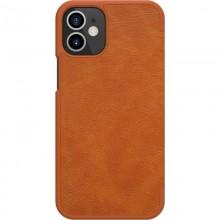 Nillkin Qin Leather Case - Etui Apple iPhone 12 Mini (Brown)