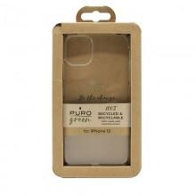 PURO Green Recycled Eco-friendly Cover - Ekologiczne etui iPhone 12 Mini (przezroczysty)