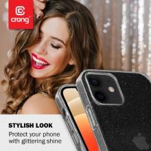 Crong Glitter Case - Etui iPhone 12 Mini (przezroczysty/srebrny)