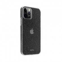 Crong Glitter Case - Etui iPhone 12 Pro Max (przezroczysty/srebrny)