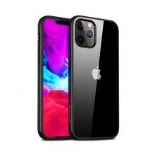 Crong Clear Cover - Etui iPhone 12 Pro Max (czarny)