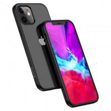Crong Clear Cover - Etui iPhone 12 Mini (czarny)