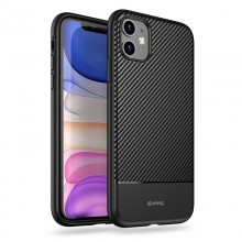 Crong Prestige Carbon Cover - Etui iPhone 11 (czarny)