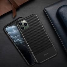 Crong Prestige Carbon Cover - Etui iPhone 11 Pro (czarny)