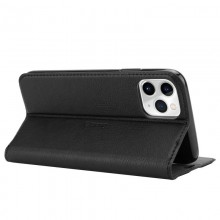 Crong Folio Case - Etui iPhone 11 Pro Max z klapką na magnes (czarny)