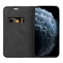 Crong Folio Case - Etui iPhone 11 z klapką na magnes (czarny)