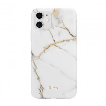 Crong Marble Case – Etui iPhone 11 (biały)