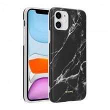 Crong Marble Case – Etui iPhone 11 (czarny)