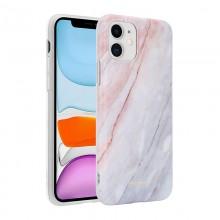 Crong Marble Case – Etui iPhone 11 (różowy)