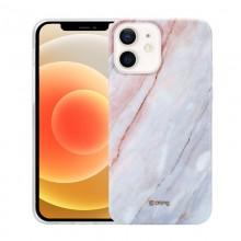 Crong Marble Case - Etui iPhone 12 Mini (różowy)