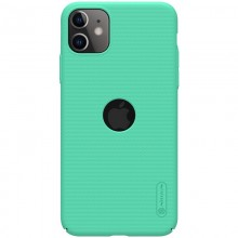 Nillkin Super Frosted Shield - Etui Apple iPhone 11 z wycięciem na logo (Mint Green)